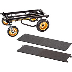 Rock N Roller R12 Multi-Cart 8-in-1 Equipment Transporter Cart With Deck and Shelf (R12DECKSHELF)