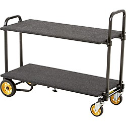 Rock N Roller R2RT 8-in-1 Micro Multi-Cart With Shelf And Deck (R2DECKSHELF)