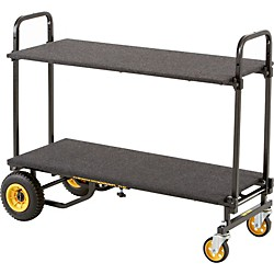 Rock N Roller R8RT 8-in1 Mid Multi-Cart with Shelf and Desk (R8DECKSHELF)