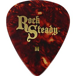 Rock Steady Celluloid Guitar Picks: Tortoise Shell Style - 1 Dozen (RPCSM)