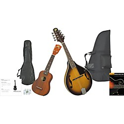 Rogue Mandolin And Ukulele Travel Pack (KIT-582362_SO-069-RU12-BK)