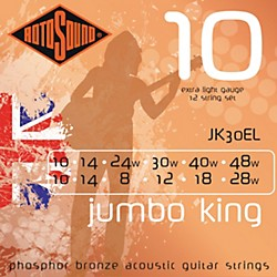 Rotosound Jumbo King 12-String Acoustic Guitar Strings (JK 30 EL)