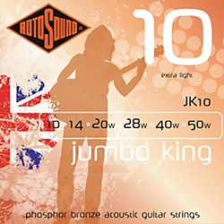 Rotosound Jumbo King Extra Light Phosphor Bronze Acoustic Guitar Strings (JK 10)