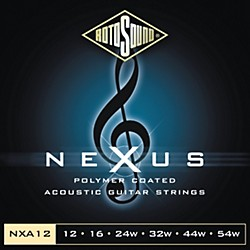 Rotosound Nexus Polymer Medium Light Coated Acoustic Strings (NXA12-581801)