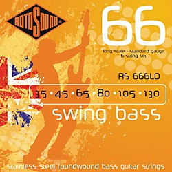 Rotosound RS666LD 6-String Roundwound Bass Strings (RS666LD)