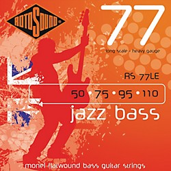 Rotosound RS77LE Heavy Gauge Jazz Bass Monel Flat Wound Strings (RS77LE)