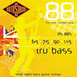 Rotosound RS88S Trubass Black Nylon Flatwound Standard Gauge Short Scale Bass Strings (RS88S)