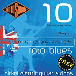 Rotosound Roto Blues Light Top/Heavy Bottom Electric Guitar Strings (RH10)