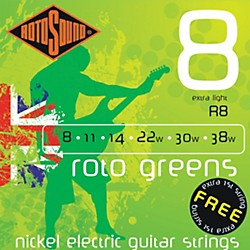 Rotosound Roto Greens Electric Guitar Strings (R8)