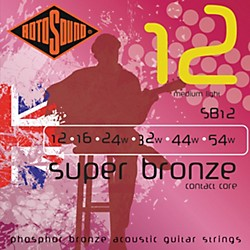 Rotosound Super Bronze Acoustic Guitar Strings (SB12)