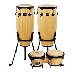 SCHALLOCH Linea 100 Series 2-Piece Conga Set with Bongos (100NTCBQ-KIT)