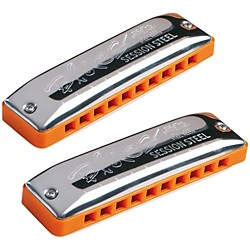 SEYDEL Set of 12 - SESSION STEEL Harmonica and Softcase (10322)