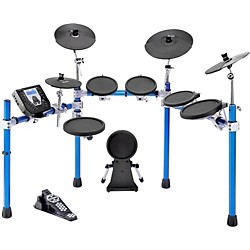 SIMMONS SD1500 Electronic Drum Set with Blue Metallic Rack (SD1500 Kit)
