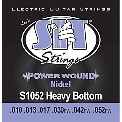SIT Strings S1052 Heavy Bottom Power Wound Nickel Electric Guitar Strings (S1052)