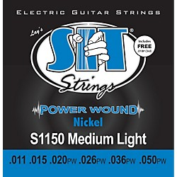 SIT Strings S1150 Medium Light Power Wound Nickel Electric Guitar Strings (S1150)