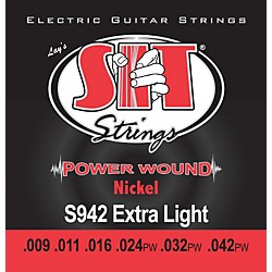 SIT Strings S942 Extra Light Power Wound Nickel Electric Guitar Strings (S942)