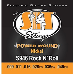SIT Strings S946 Rock n Roll Power Wound Nickel Electric Guitar Strings (S946)