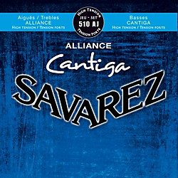 Savarez 510AJ HT Alliance Trebles Cantiga Basses High Tension Guitar Strings (50355)