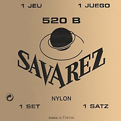 Savarez Traditional White Card 520B Light Tension Classical Guitar Strings (520B)