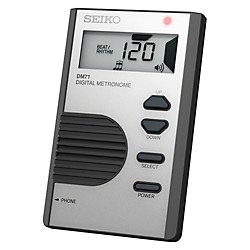 Seiko Pocket Digital Metronome Silver (DM71S_136134)