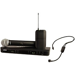 Shure BLX1288 Combo System with PGA31 Headset microphone and PG58 handheld microphone (BLX1288/P31-M15)