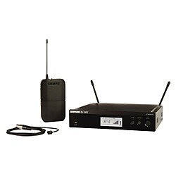 Shure BLX14R/W93 Wireless Lavalier System with WL93 Omnidirectional Condenser Miniature Lavalier Mic (BLX14R/W93-K12)
