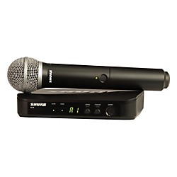 Shure BLX24/PG58 Handheld Wireless System with PG58 Capsule (BLX24/PG58-H8)