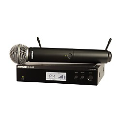 Shure BLX24R/B58 Wireless System with Rackmountable Receiver and Beta 58A Microphone Capsule (BLX24R/B58=-J10)