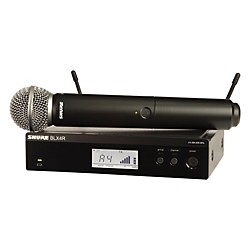 Shure BLX24R/SM58 Wireless System with Rackmountable Receiver and SM58 Microphone Capsule (BLX24R/SM58=-H8)