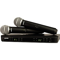 Shure BLX288/PG58 Dual-Channel Wireless System with 2 PG58 Handheld Transmitters (BLX288/PG58=-J10)