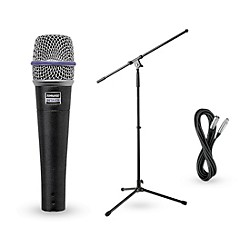 Shure Beta 57A Dynamic Mic with Cable and Stand (BETA57APack)