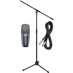 Shure PG42 Condenser Mic with Cable and Stand (PG42Pack)