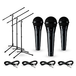 Shure PG58 3-Pack Mic and Stand Kit (KIT-600334)