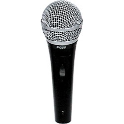 Shure PG58-LC Cardioid Dynamic Handheld Microphone (PG58-LC)