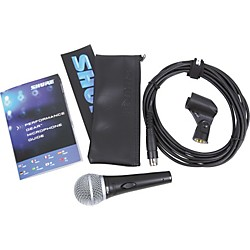Shure PG58-XLR Dynamic Mic with XLR Cable (PG58-XLR)