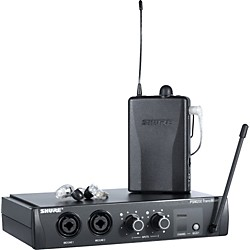 Shure PSM 200 Wireless Personal Monitoring System with SE215 Earphones (P2TR215CL-2)