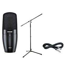 Shure SM27 SC Condenser Mic with Cable and Stand (SM27SCPack)