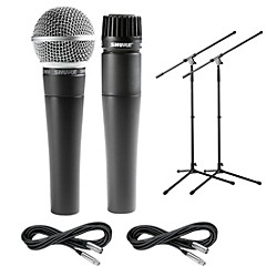 Shure SM57 & SM58, Stand & Cable Package (SM57 & SM58 Package)
