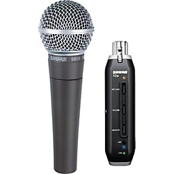 Shure SM58 and X2u XLR-to-USB Digital Bundle (KIT872906)