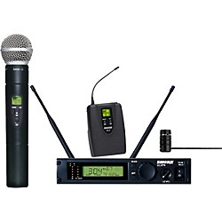 Shure ULXP124/85 Combo Handheld/Lavalier Wireless Microphone System (ULXP124/85-M1)