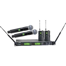 Shure UR124D/BETA58 Dual Bodypack Handheld Wireless Microphone System (UR124D/BETA58-L3)