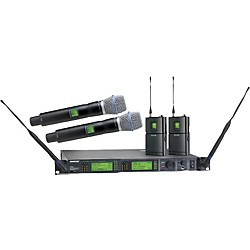 Shure UR124D/BETA87C Dual Bodypack Handheld Wireless Microphone System (UR124D/BETA87C-L3)