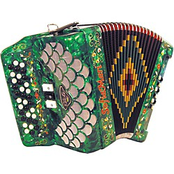 SofiaMari Elite Accordion (SME-3412-FBE Grn Prl)