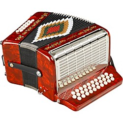 SofiaMari SM-3112 31-Button 12 Bass Accordion GCF (SM 3112 RED PEARL)