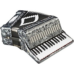 SofiaMari SM-3232 32-Key 32-Bass Piano Accordion (SM 3232 GRAY PEARL)