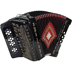 SofiaMari SM-3412 34-Button 12-Bass Accordion GCF (SM-3412 BLACK)