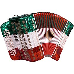 SofiaMari SMTT-3412, Two Tone Accordion (SMTT3412 sol/mi RWG)