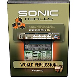 Sonic Reality Reason 3 Refills Vol. 13: World Percussion (CD) (SR-RR13-HCD-IN)