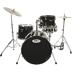 Sound Percussion 4-Piece Drum Set with Cymbals (SP4CBK)
