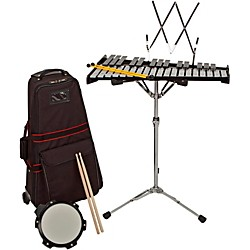 Concert percussion music arts for Yamaha student bell kit with backpack and rolling cart